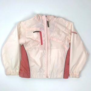 Girl's Columbia Pink & Brown Full Zip Jacket 6 6X